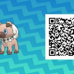 103 Pokemon Sun and Moon Rockruff QR Code