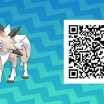 104 Pokemon Sun and Moon Midday Lycanroc QR Code
