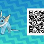124 Pokemon Sun and Moon Vaporeon QR Code