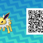 125 Pokemon Sun and Moon Jolteon QR Code