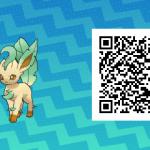 129 Pokemon Sun and Moon Leafeon QR Code