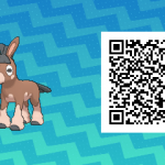132 Pokemon Sun and Moon Mudbray QR Code