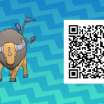 137 Pokemon Sun and Moon Tauros QR Code