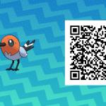 158 Pokemon Sun and Moon Fletchling QR Code