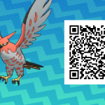160 Pokemon Sun and Moon Talonflame QR Code