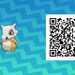 163 Pokemon Sun and Moon Cubone QR Code