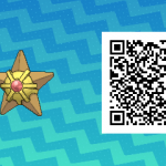 184 Pokemon Sun and Moon Staryu QR Code
