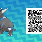 189 Pokemon Sun and Moon Rampardos QR Code