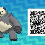 221 Pokemon Sun and Moon Pangoro QR Code