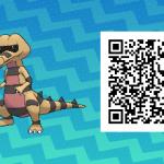 233 Pokemon Sun and Moon Krokorok QR Code