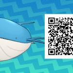 267 Pokemon Sun and Moon Wailord QR Code