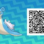 268 Pokemon Sun and Moon Lapras QR Code