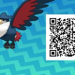 278 Pokemon Sun and Moon Honchkrow QR Code