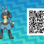 280 Pokemon Sun and Moon Lucario QR Code