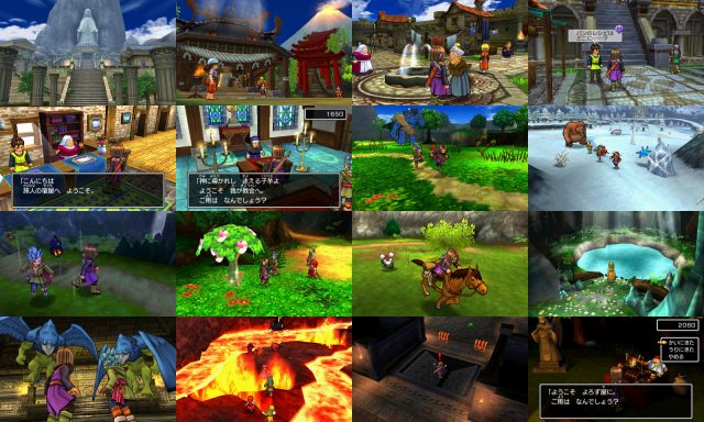 Dragon Quest XI 3DS Screens Collage
