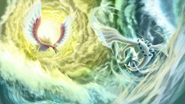 Pokemon Gold and Silver Ho-Oh and Lugia