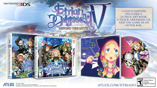 Etrian Odyssey V Beyond the Myth Launch Edition