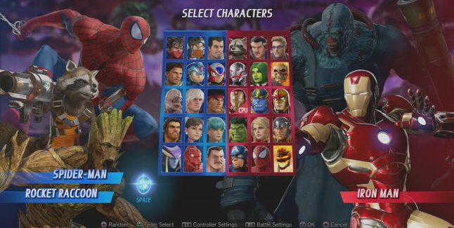 Marvel vs Capcom Infinite Unlockable Characters
