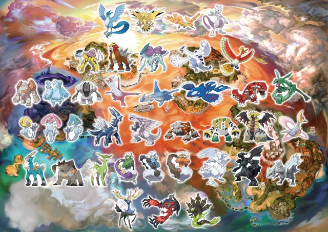 Pokemon Ultra Sun and Ultra Moon Map Legendary Pokemon