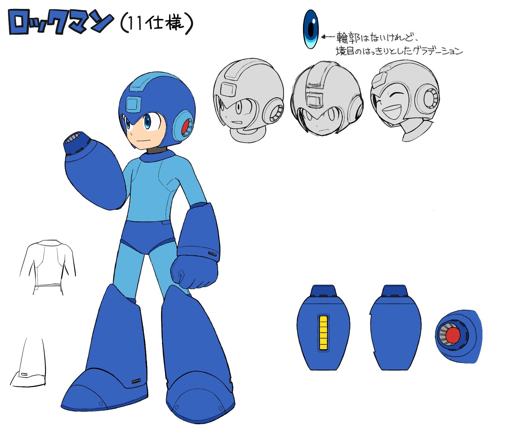 Mega Man 11 Character Concept Art