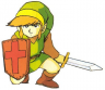 Link Crouches to Block With Shield