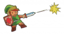 Link With Powered-Up Sword