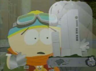 south parks cartman ogles the nintendo wii
