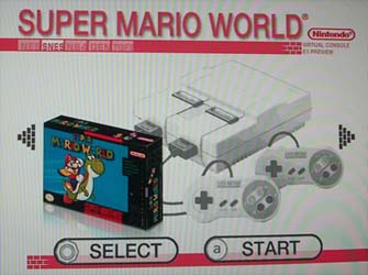 Virtual Console Super Mario World SNES game on Wii