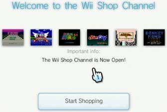 Wii Virtual Console Shop Channel