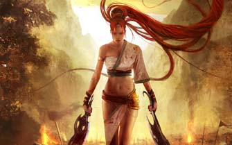 Nariko with Heavenly Swords
