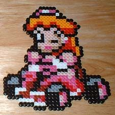 Peach Bead Art