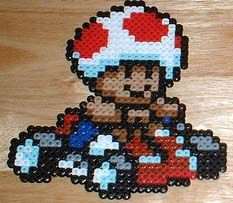 Toad Bead Art