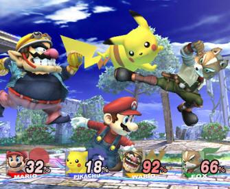 Super Smash Bros Brawl Wii multiplayer