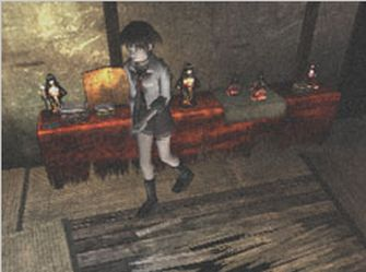 Fatal Frame 1 Screenshot - Riku Searches Mansion (PS2 & Xbox)