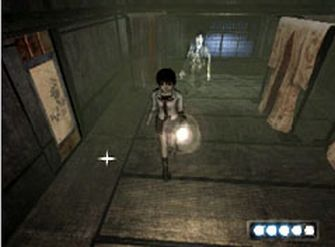Fatal Frame 1 Screenshot - Miku Runs From Ghost (PS2 & Xbox)