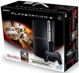 PS3 80GB model includes Motorstorm, click on the box for details