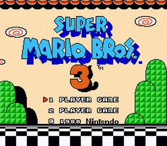 Title Screen - Super Mario Bros. 3 Screenshot