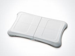 The Wii Fit board mat that ships with the game.