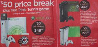 Xbox 360 price breaks in America
