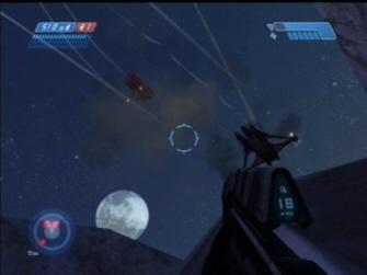 Shootin' Banshees out of the air! - Halo 1: Combat Evolved Screenshot Xbox
