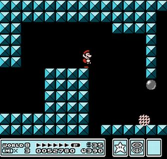 One of the many Fortress levels - Super Mario Bros. 3 Screenshot