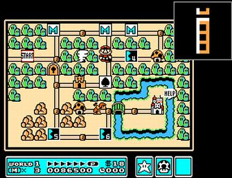 Using the Magic Whistle - Super Mario Bros. 3 Screenshot