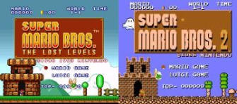 Super Mario Bros The Lost Levels (USA) & Super Mario Bros 2 (Japan) Screenshots