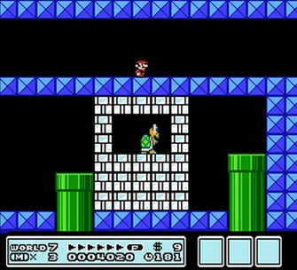 Kick these blocks! - Super Mario Bros. 3 Artwork Screenshot