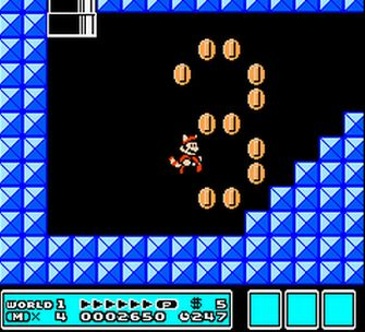 Yay coins! - Super Mario Bros. 3 Screenshot