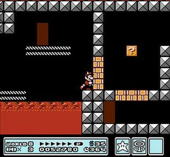 Break the blocks with your tail. - Super Mario Bros. 3 Screenshot