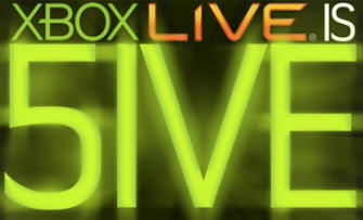 Xbox Live Is 5ive Logo