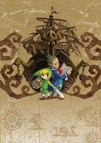 Zelda: Phantom Hourglass Cover Art