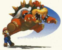 Mario Swing/Throws Bowser - Super Mario 64 art