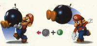 Mario throws Bomb-Omb - Super Mario 64 screenshot